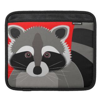 Cute Raccoon Drawing Sleeve For iPads