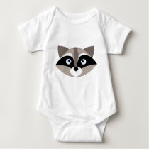 Cute Raccoon Face Baby Bodysuit