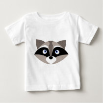 Cute Raccoon Face Baby T-Shirt