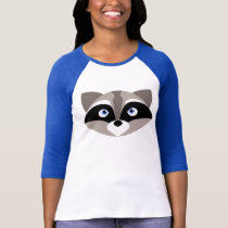 Cute Raccoon Face T-Shirt