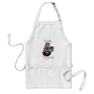 Cute Raccoon Family, Forever and Always Apron