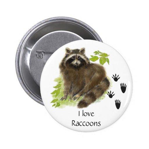 Cute Raccoon Nature Pins