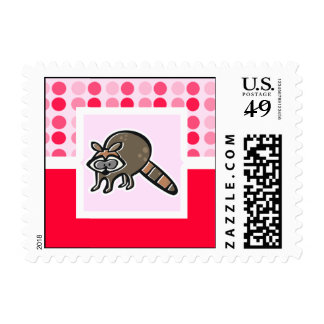 Cute Raccoon Postage Stamps