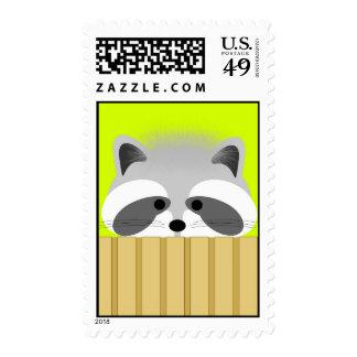 Cute Raccoon Postage Stamp