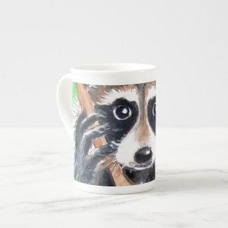 Cute Raccoon Watercolor Art Tea Cup