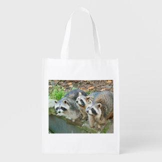 Cute Raccoons Grocery Bags