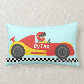 Cute Race Car For Boys Lumbar Pillow