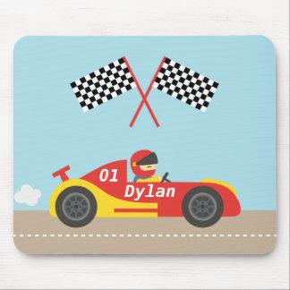 Cute Race Car For Boys Mouse Pads
