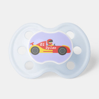 Cute Race Car For Boys Pacifier
