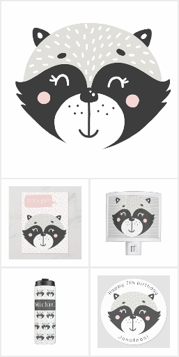 Cute Racoon - Baby & Kids Collection