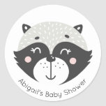 Cute Racoon | Baby Shower Stickers