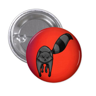 Cute Racoon Pinback Button