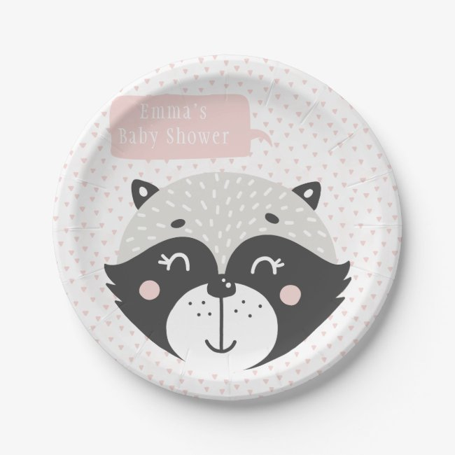 Cute Racoon Mouse | Baby Shower Paper Plates