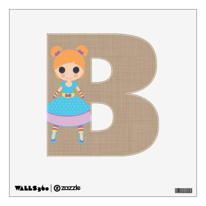 Cute Rag Doll Alphabet Letters Nursery