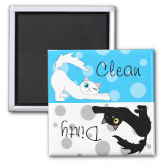 Cute Ragdoll Cats Clean Dirty Dishwasher Magnet at Zazzle