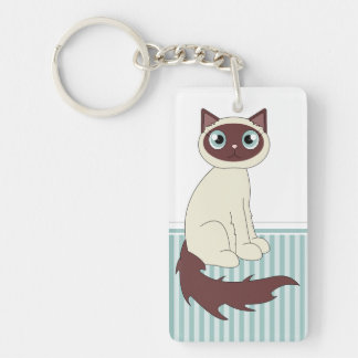Cute Ragdoll Siamese Cat Cartoon Keychain
