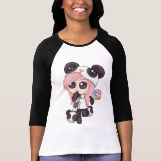 Cute Rainbow Anime Panda Girl T-Shirt