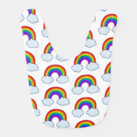 Cute Rainbow Baby Bib