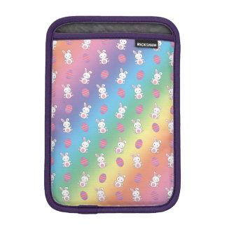 Cute rainbow baby bunny easter pattern sleeve for iPad mini
