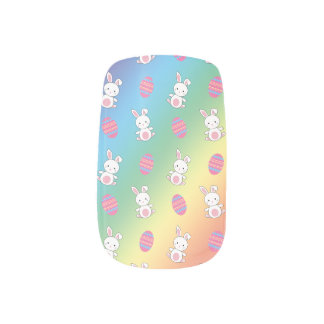 Cute rainbow baby bunny easter pattern minx ® nail wraps