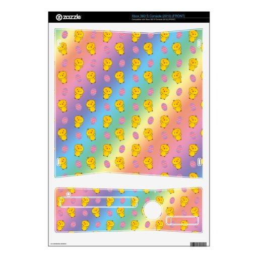 Cute rainbow baby chick easter pattern xbox 360 s decals