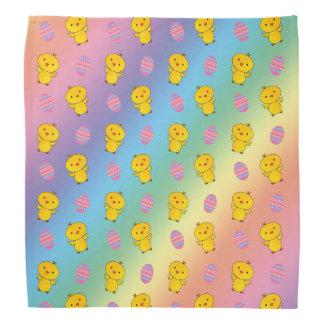 Cute rainbow baby chick easter pattern bandana