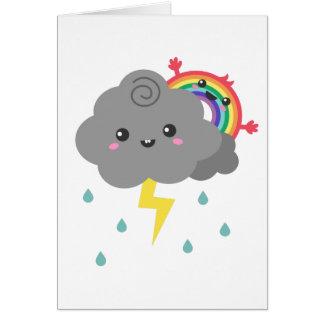 Cute Rainbow Behind Every Dark Cloud Card