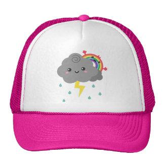 Cute Rainbow Behind Every Dark Cloud, Cheerful Trucker Hat