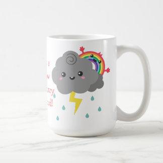 Cute Rainbow Behind Every Dark Cloud Classic White Coffee Mug