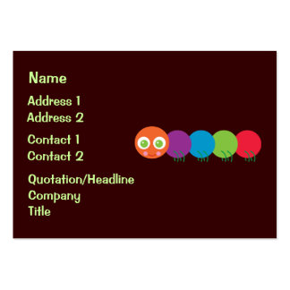 Cute Rainbow Caterpillar Business Cards Chubby Business Cards