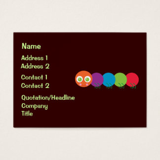 Cute Rainbow Caterpillar Business Cards