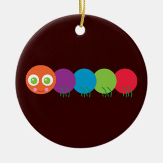 Cute Rainbow Caterpillar Christmas Tree Ornament