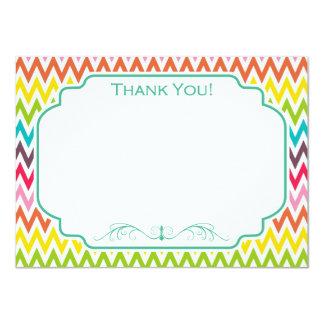 Cute Rainbow Chevron Stripes Card