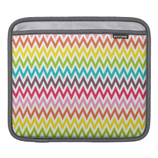 Cute Rainbow Chevron Stripes Sleeve For iPads