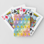 Cute rainbow chick bunny egg basket easter pattern bicycle playing cards