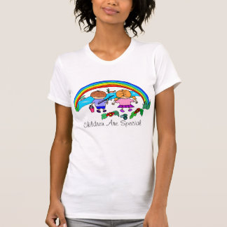 Cute Rainbow Children Nature  Design T-shirt