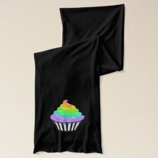 Cute Rainbow Cupcake Swirl Icing With Sprinkles Scarf