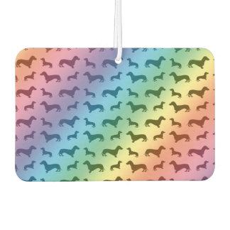 Cute rainbow dachshund pattern