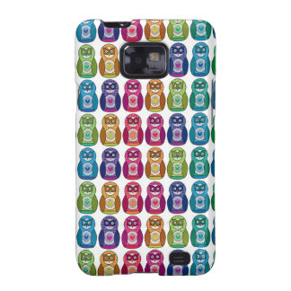 Cute Rainbow Matryoshka Owls Galaxy S2 Covers