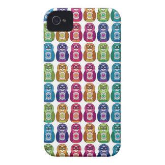 Cute Rainbow Matryoshka Owls Case-Mate iPhone 4 Cases