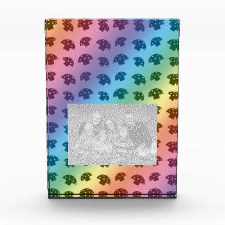 Cute rainbow mushroom pattern acrylic award