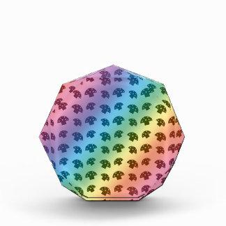 Cute rainbow mushroom pattern awards