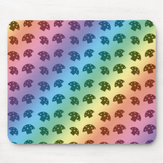 Cute rainbow mushroom pattern mouse pad