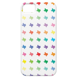 Cute Rainbow of Colors Map of Texas Pattern iPhone 5 Cases