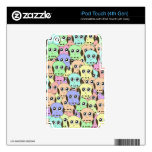 Cute Rainbow Owl Case iPod Touch 4G Decal