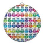 Cute Rainbow Owl Pattern Dart Boards