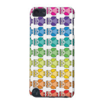 Cute Rainbow Owl Pattern iPod Touch Case