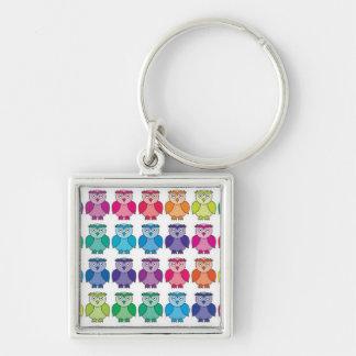 Cute Rainbow Owl Pattern Keychain
