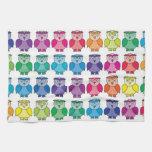 Cute Rainbow Owl Pattern Kitchen Towel