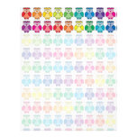 Cute Rainbow Owl Pattern Personalized Letterhead